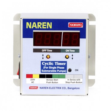 Cyclic Timer for Single Phase Pumps (Up to 1.5 HP)