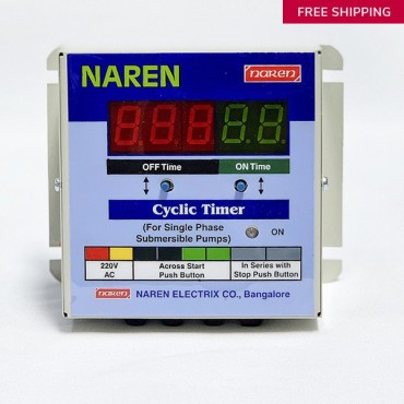 Model : Cyclic Timer for Single Phase Monoblock/Jet Pumps